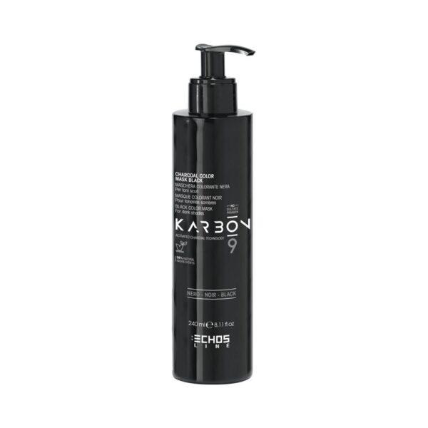 Μάσκα μαλλιών μαύρο χρώμα για σκούρους τόνους Karbon