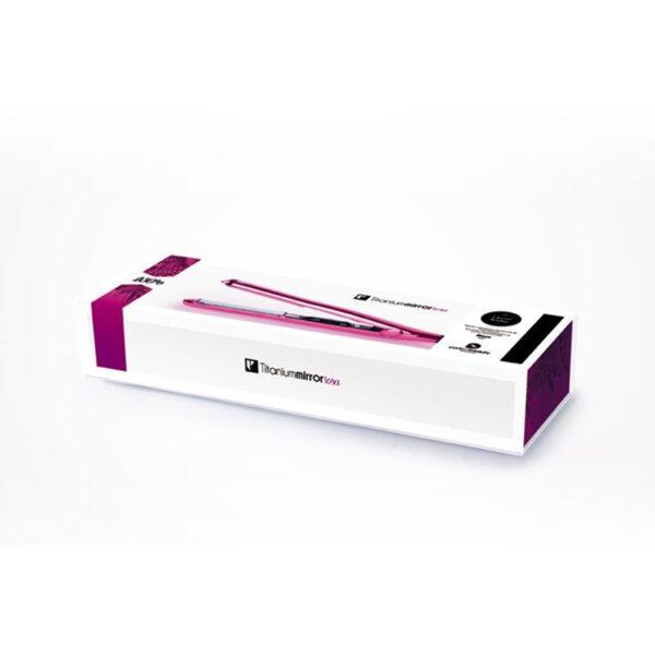 Ισιωτική μαλλιών με πλάκες τιτανίου Titanium Mirror ρόζ