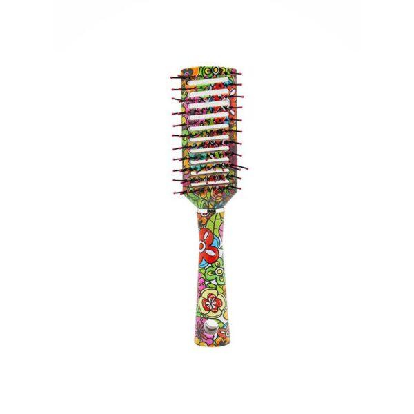 Βούρτσα μαλλιών αέρος με λουλούδια Sixties Style