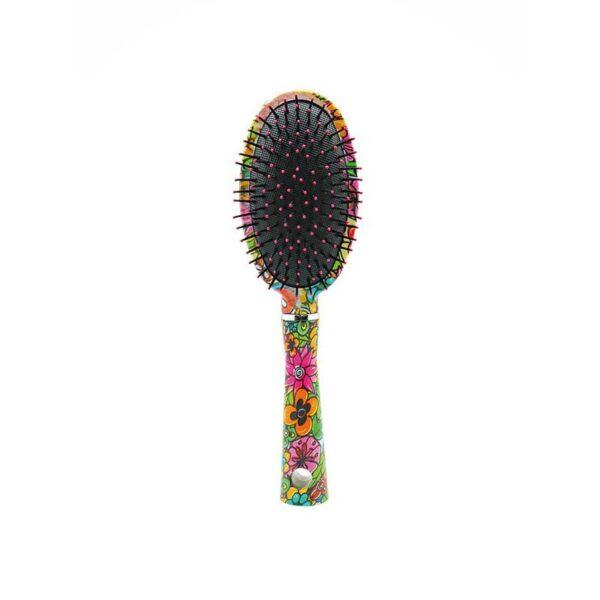 Βούρτσα μαλλιών οβάλ με λουλούδια Sixties Style