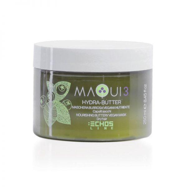 Μάσκα μαλλιών βουτύρου ανάπλασης με super food Hydra butter Maqui 3