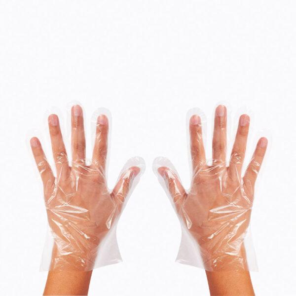 Γάντια μιας χρήσης πολυαιθυλενίου διάφανα 100 τεμάχια